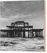 The West Pier In Brighton Wood Print