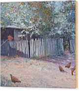 The White Picket Fence Wood Print