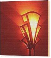 Theater Homage Art Deco Lighting Fixture Fox Tucson Tucson Arizona 2006 Grand Reopening Wood Print