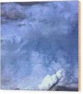 There Be A Storm A Brewin In Nebraska Wood Print