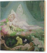 There Sleeps Titania Wood Print