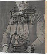 Thomas Edison's Phonograph Wood Print