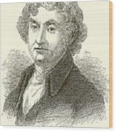 Thomas Jefferson Wood Print by English School