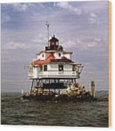 Thomas Point Shoal Lighthouse Wood Print