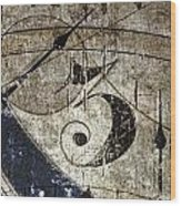 Three O'clock Wood Print
