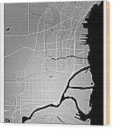 Thunder Bay Street Map - Thunder Bay Canada Road Map Art On Colo Wood Print