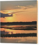 Tidal Marsh Wilmington Nc Wood Print