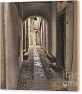 Tight Alley Wood Print