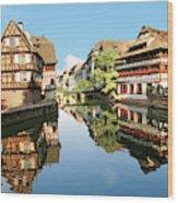 Timbered Buildings, La Petite France Wood Print