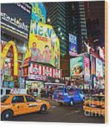 Times Square - New York City Wood Print