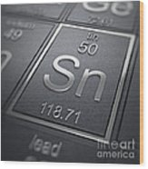 Tin Chemical Element Wood Print
