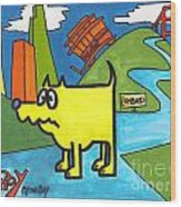 Tippy By The Bay Wood Print