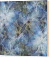 Tissue Paper Blues Wood Print