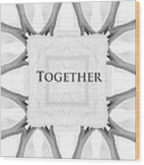 Together Wood Print