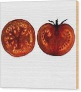 Tomato Slices Wood Print