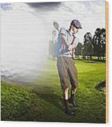 Top Flight Golf Wood Print