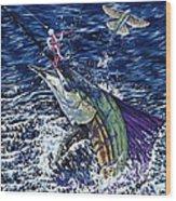 Top Sail Wood Print