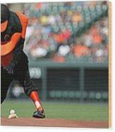 Toronto Blue Jays V Baltimore Orioles Wood Print