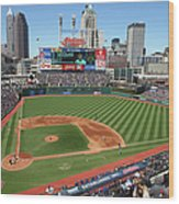 Toronto Blue Jays V. Cleveland Indians Wood Print