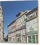 Torre Dos Clerigos Porto Portugal Wood Print