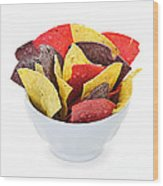 Tortilla Chips Wood Print