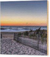 Tower Beach Sunrise Wood Print by David Dufresne