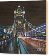 Tower Bridge London Wood Print by Donald Davis