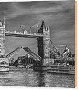 Tower Bridge Vintage Wood Print