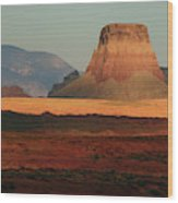 Tower Butte At Sunset, Glen Canyon Wood Print