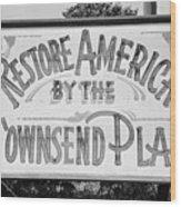 Townsend Plan, 1939 Wood Print