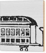 Train, 19th Century Wood Print