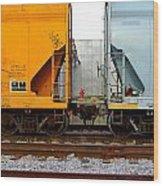 Train Cars 2 Wood Print