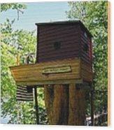 Tree House Boat 3 Wood Print