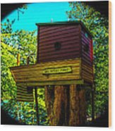 Tree House Wood Print