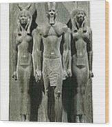 Triad Of Menkaure Mycerinus Wood Print