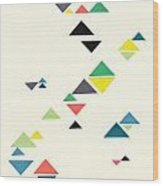 Triangles Wood Print