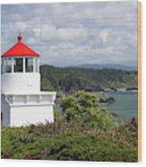 Trinidad Head Light House On The Coast Wood Print