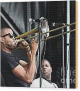 Musician Trombone Shorty Wood Print