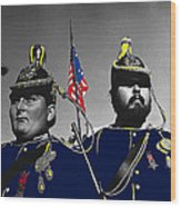 Troopers Indian Wars Memorial Encampment Ft. Lowell Tucson Arizona 1970-2008 Wood Print