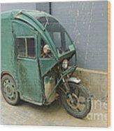 Tuk Tuk 3-wheeled Motorcycle Wood Print
