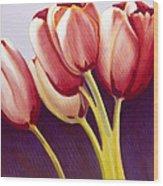 Tulips Are People Xiii Wood Print
