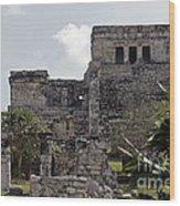 Tulum Ruins Mexico Wood Print