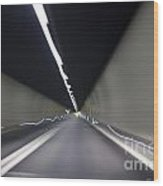 Tunnel With Light Wood Print