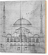 Turkey: Hagia Sophia, 1830s Wood Print