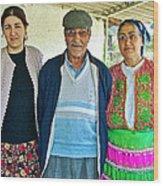 Turkish Family In Demircidere Koyu In Kozak-turkey  Wood Print