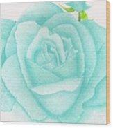 Turquoise Jewel Wood Print