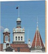 Turrets, Spires & Clock Tower, Historic Wood Print