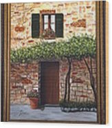 Tuscan Casa Montepulciano Wood Print