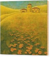 Tuscan Gold 2 Wood Print