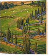 Tuscan Road Wood Print